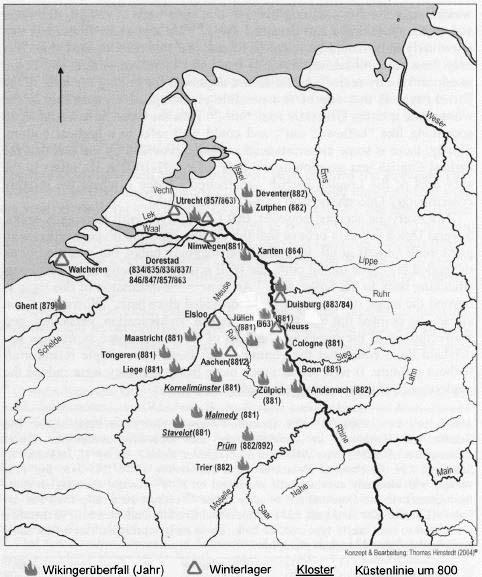 Wikingerüberfälle am Niederrhein