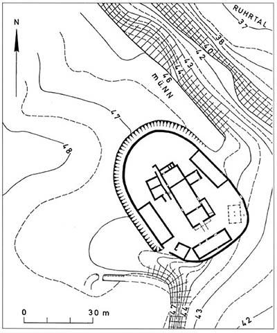 Wikingerüberfälle am Niederrhein. Burg Broich.