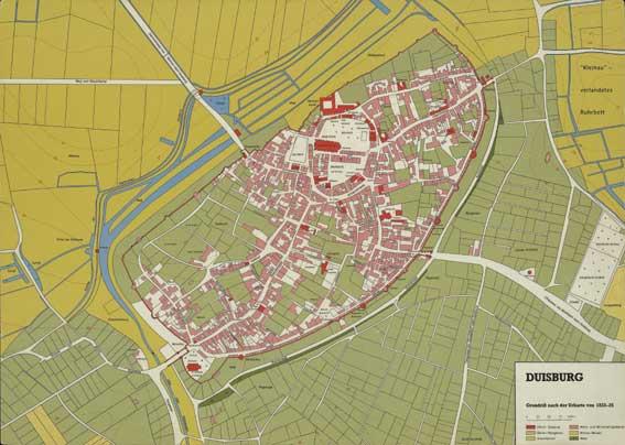 Duisburg Stadtentwicklung im Mittelalter