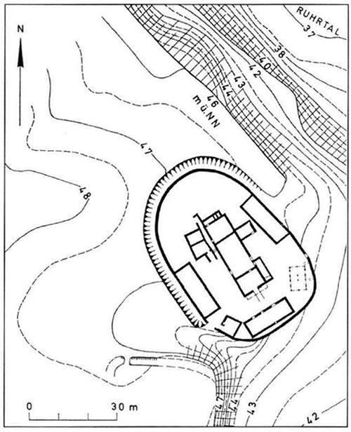 Topographie der Burg Broich