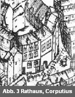 Sandsteinmauer der alten Königpfalz zerstört