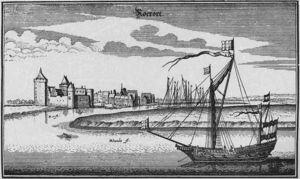 Ruhrort mit dem Kasteel 1632