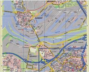 Ruhrort und Hafen mit Stadtansicht