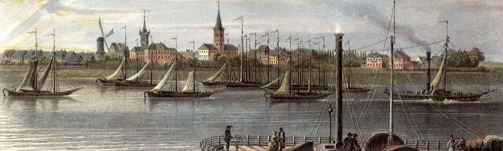 Rurort mit Stadtansicht und Hafen