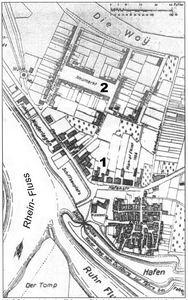 Ruhrort mit dem alten Hafen