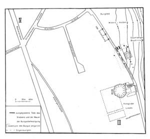 Übersichtsplan über das Ausgrabungsgelände