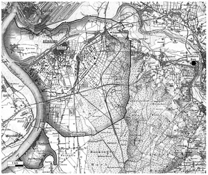 Gebiet der Stadt Duisburg seit dem Mittelalter.