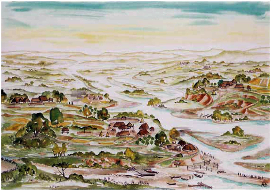 Landschaftsbild in der Eisenzeit