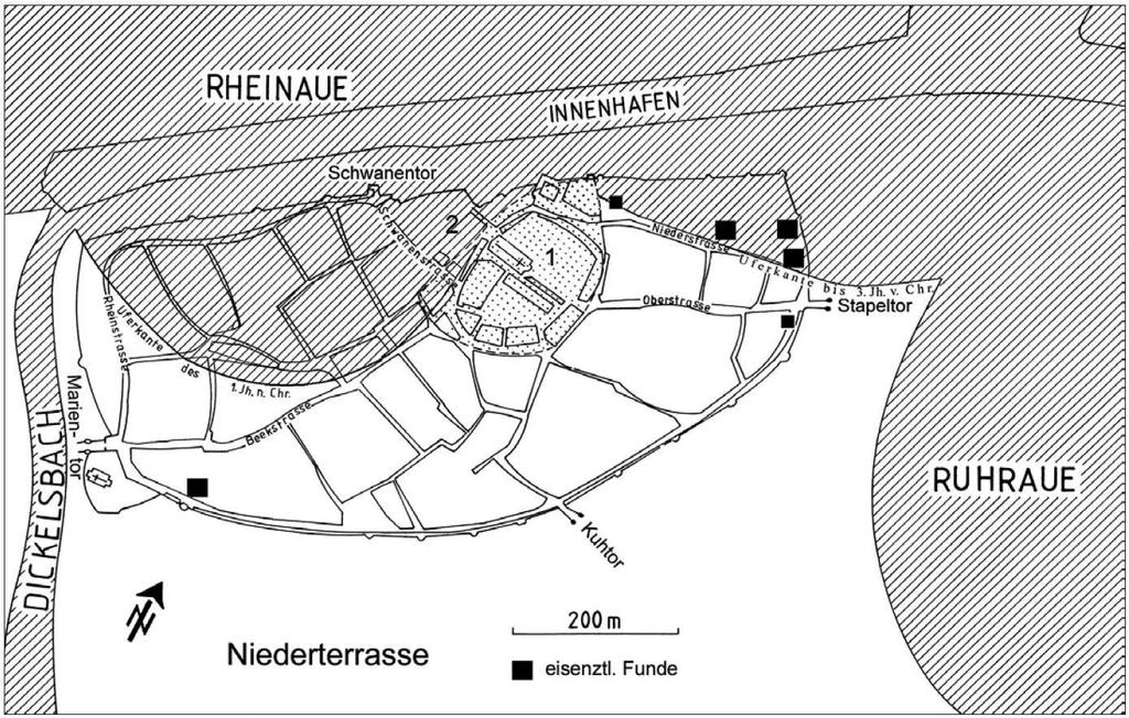 Eisenzeitliche Siedlungsfunde in der Duisburger Altstadt