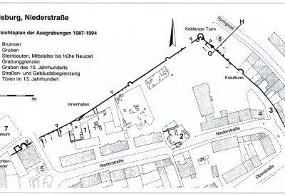 Duisburg, Niederstraße. Übersichtsplan